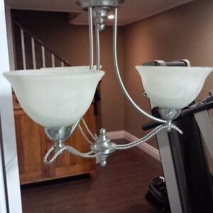 Chandelier With 3 Lights - Brushed Nickel