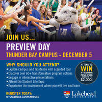 Lakehead University Fall Preview Day - Thunder Bay Campus