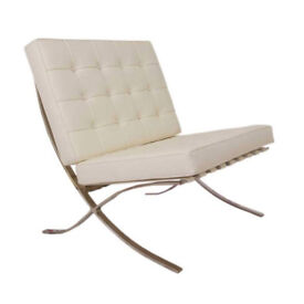 Barcelona Chair in leather. New, Boxed and unused
