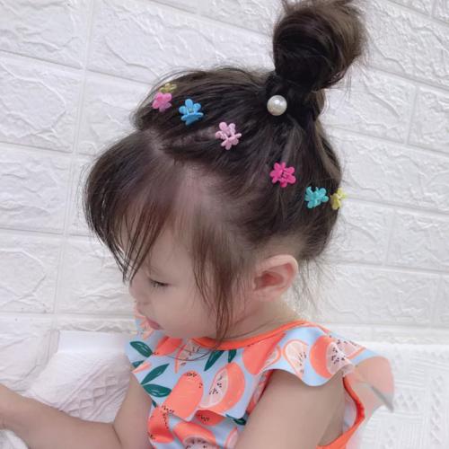 20Pcs Hair Clip Claws Baby Girl Kids Mini Clamp Plastic Flower Heart Star Shaped