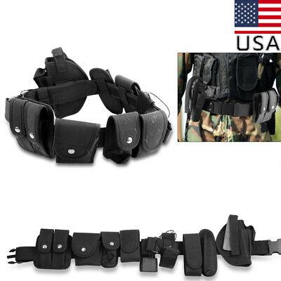 Police Security Guard Modular Enforcement Equipment Belt Tactical Nylon