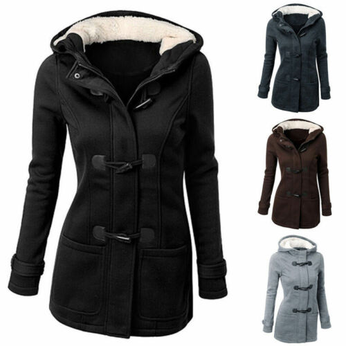 Winter Women Warm Wool Blend Coat Jacket Fleece Thicken Casual Outwear S-6XL