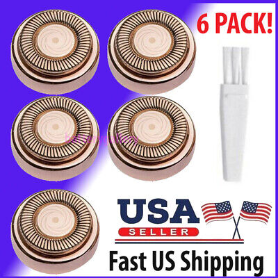 For Flawless Hair Remover 6pcs Replacement Heads Count Replacing Blades Cleaning