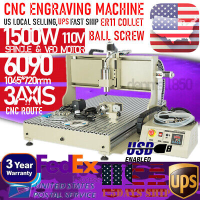 Usb 3 Axis Cnc 6090 Router Engraver Machine Carvingdrillingmilling Woodworking