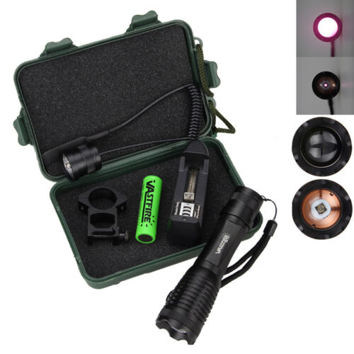 IR 940nm LED OSRAM Infrared Night Vision Flashlight+Battery+Charger+Mount+Switch