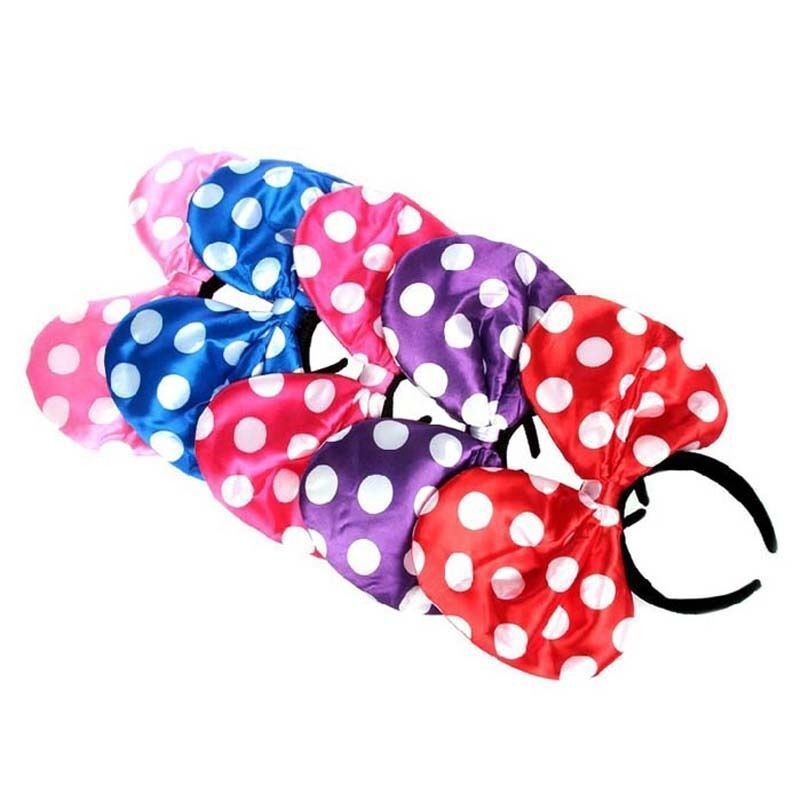 Minnie Mickey Mouse Ears Light Up Bow Headbands Flashing LED Party Favors Lot