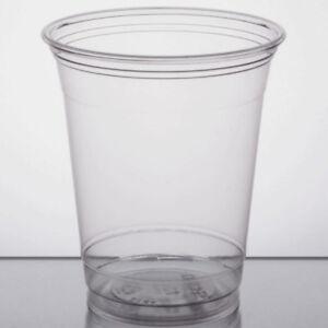 Premium Solo TP12 Ultra Clear Plastic 12oz PET cups (1000-Pack)