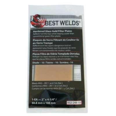Best Welds Hardened Glass Gold Filter Plates 606230596223