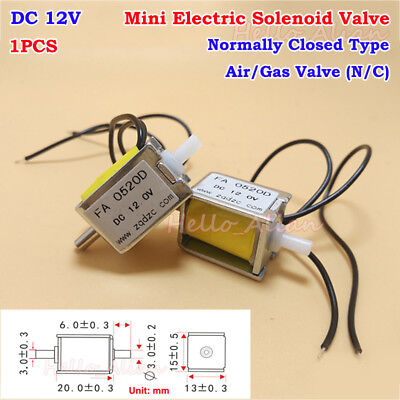 Dc 12v Mini Electric Solenoid Valve Normally Closed Micro Gas Air Exhaust Valve