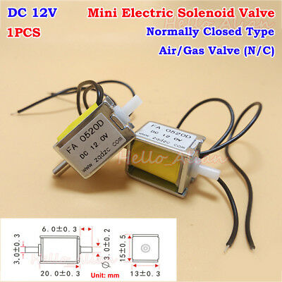 Dc 12v Small Mini Electric Dc Solenoid Valve Nc Normally Closed Gas Air Valve