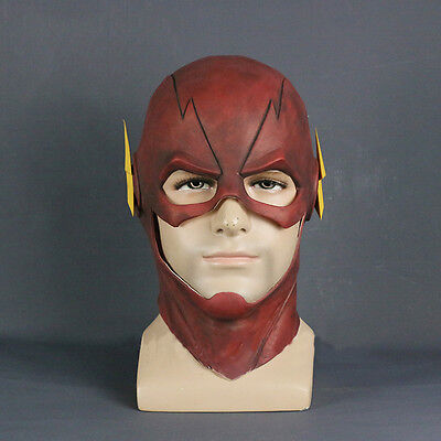 New Arrived The Flash Allen Cosplay Helmet Halloween Full Face Latex Mask Hoods - Flash Mask