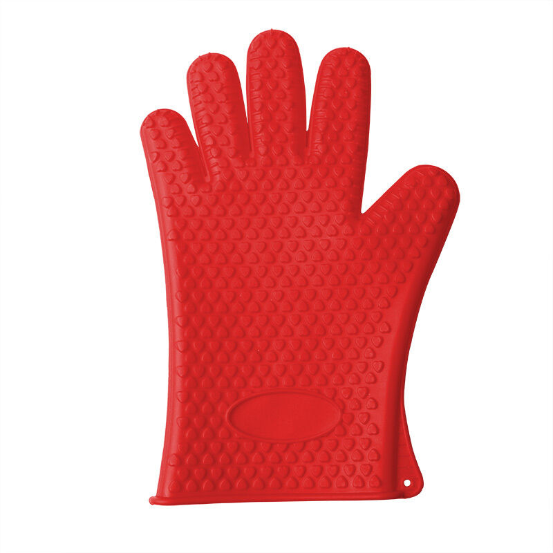 Kitchen Heat Resistant Silicone Glove Oven Pot Holder Baking BBQ Cooking Mitt