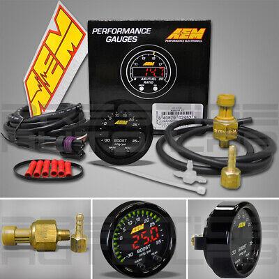AEM 30-0306 X-Series Boost Pressure Display Gauge -30 ~ 35 PSI / Bar -1 ~ 2.5
