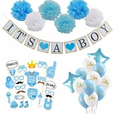 Baby Shower Boy Girl Decorations Set Its a Boy Its a Girl oh baby Balloons - Its A Boy Balloons