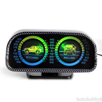 Car Offroad 2-barreled Backlight Inclinometer Slope Level Meter Compass Balancer