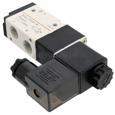 14 Dc 12v 3 Way 2 Position Pneumatic Electric Solenoid Valve Npt Air Aluminum