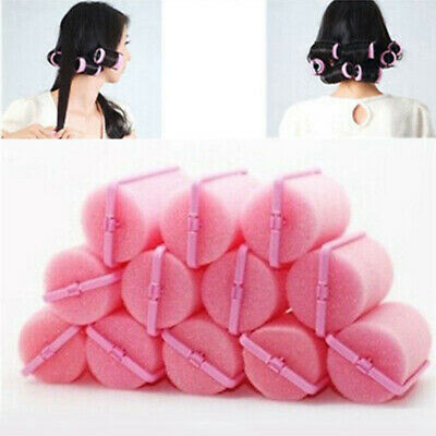 SPONGE CURLERS TWIST TOOLS FOAM CUSHION ROLLERS MAGIC 12 PCS CHEAP HAIR STYLING