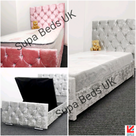 💎🇬🇧NEW STORAGE BEDS 3FT SINGLE + MATTRESS OPTION ANY COLOUR ON SALE