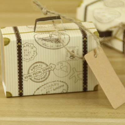 Rope Kraft Paper Chic Favor Party Brown Gift Boxes Wedding Trunk Shaped - Trunk Party Gifts