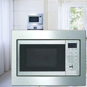 de luxe acier inoxydable four micro ondes encastr 20 l. Black Bedroom Furniture Sets. Home Design Ideas