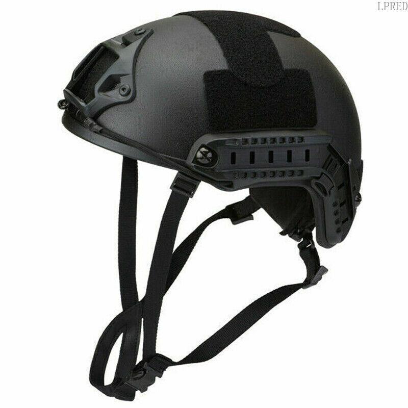 LPRED Army UHMW-PE FAST Ballistic Helmet Bulletproof Lvl Iiia Large Size Black