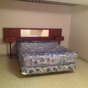 Queen size mattress and box spring, with headboard