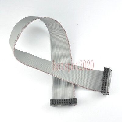 2pc 2.54mm Pitch 2x10 20pinwire Idc Flat Ribbon Cable Jtag Avr Wire Length 30cm