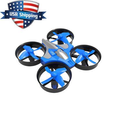 RH807 4CH 6 Axis Headless Way Micro RC Drone Quadcopter RTF (Eachine E010) Blue