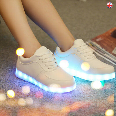 Men Womens LED Shoes Light up Luminous Flash Trainers High Quality Sneakers UK