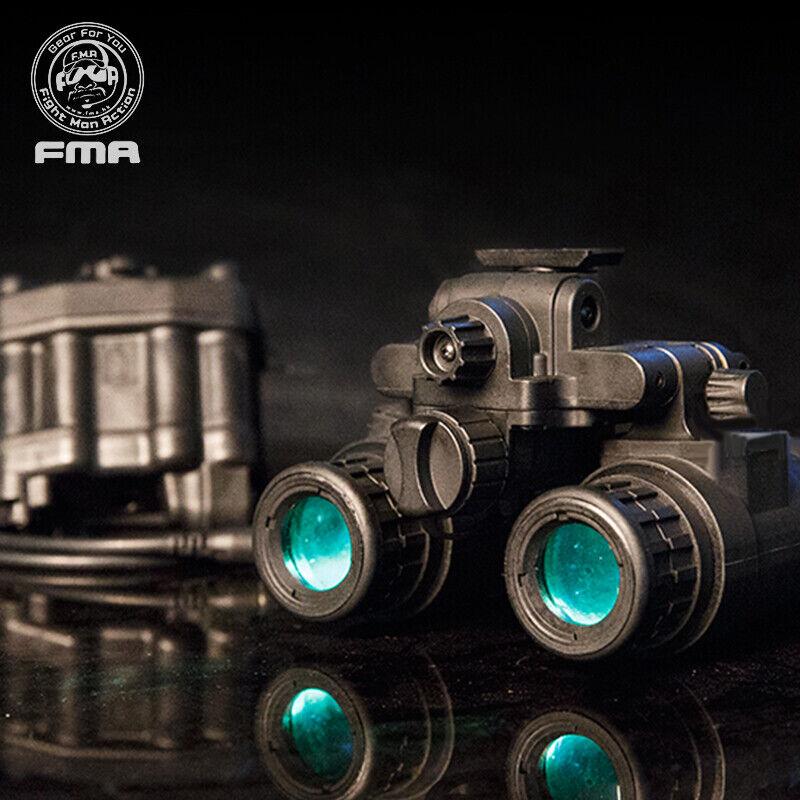 FMA Airsoft Binocular Helmet NVG PVS31  Dummy with Light Function Tactical Gear