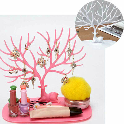 Jewelry Holder Show Rack Tree Stand Earring Ring Necklace Display Organizer