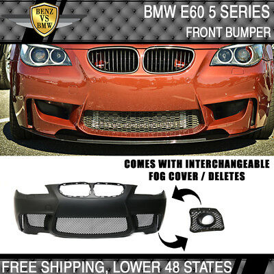 Fits 04-10 BMW E60 5-Series 1M Style PP Body Kit Full Front Bumper 2010 Bmw 1 Series