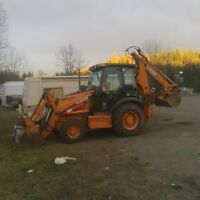 backhoe for hire lic and insured, expierienced op