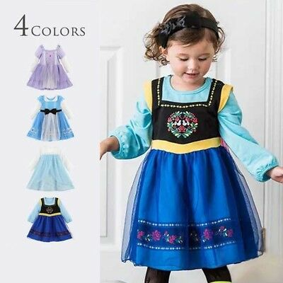 Alice In Wonderland Costume Children (Kid Girl Princess Sofia  Alice In Wonderland Anna Elsa Fancy Dress Costume)