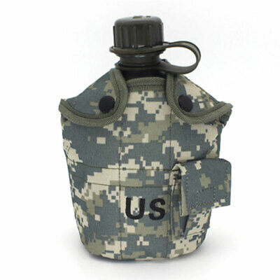Portable Camping Canteen Set Military Water Bottle Kettle Cup Pot Outdoor (Portable Canteen)