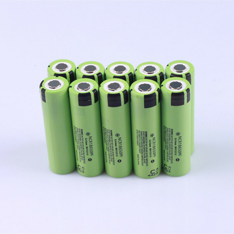 10PCS Panasonic 18650 Rechargeable Battery 2900mah 10A Li-ion 3.7V NCR18650PF