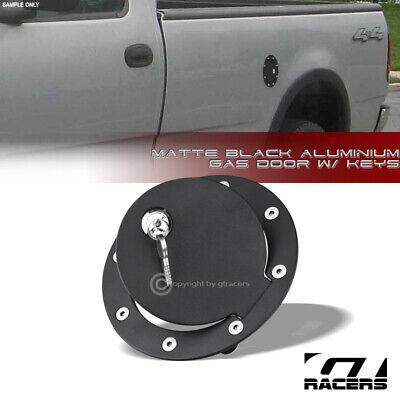 For 1997-2003 Ford F150/F250 Light Duty Matte Black Aluminum Fuel Gas Door Cover