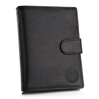 Herren Leder Brieftasche, RFID-Schutz, Portemonnaie, RFID Blocker, Geldbörse