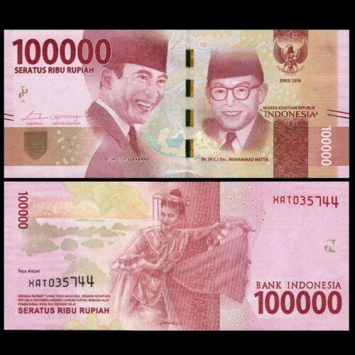 1 MILLION INDONESIAN RUPIAH (IDR) CURRENCY - 100,000 X 10 = 1 Million Rupiah