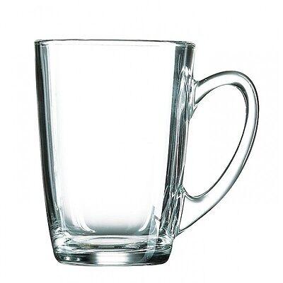Set Of Six Luminarc Large Clear Gl Tea Coffee Chai Cuccino Cups Mugs 320ml