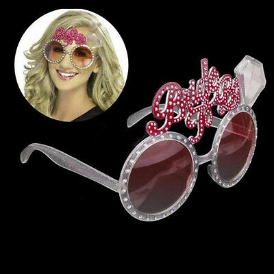 Bachelorette Hen Party Supplies Bride To Be Glasses Pink Bling Diamond Ring new - Bachelorette Glasses