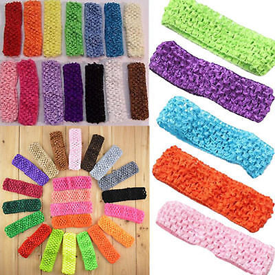 10pcs Lots Wholesale Kid Baby Girls Stretchy Elastic Lace Crochet Headbands sh (Baby Sh)