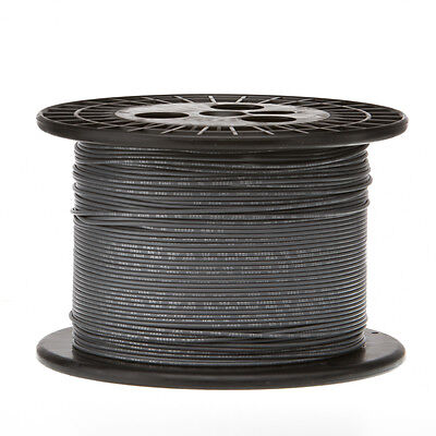 22 Awg Gauge Solid Hook Up Wire Gray 1000 Ft 0.0253 Ul1007 300 Volts
