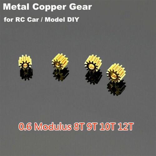 0.6 Modulus Metal Copper Gear 7/8/9/10/12 Teeth Motor Toy Car Transmission Gear