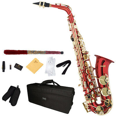 Mendini Eb Alto Saxophone Sax ~Gold Silver Blue Green Purple Red +Care Kit on Rummage