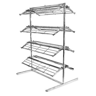 66h X 48w Double Sided T Style Shoe Holder Retail Shelves Display Rack Fixture