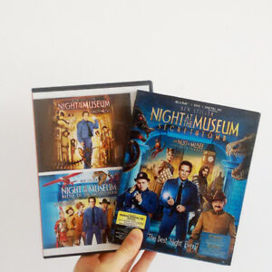 Three Night at the Museum Movies, Blu Ray and DVD