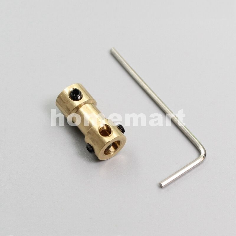 NEW Brass Shaft Motor axle Coupling Coupler 2MM 3MM 3.17MM 4MM TO 5MM Dia.=9mm