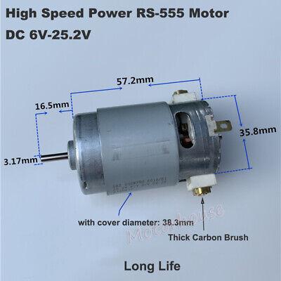 Rs-555 12v 14.4v 18v 24v High Speed Power Electric Drill Garden Tools Toy Motor