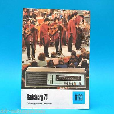 RADEBERG 74 VOLLTRANS HEIMSUPER 1975 PROSPEKT WERBUNG DEWAG WERBEBLATT R123